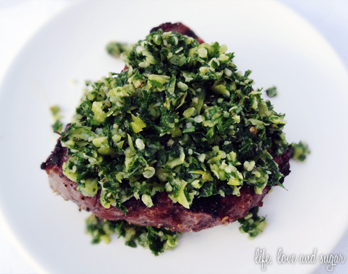 image of chimichurri topping for steaks