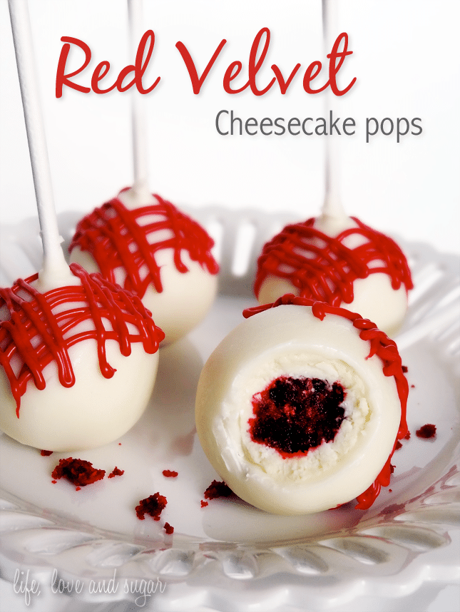 Red Velvet Cheesecake Pops
