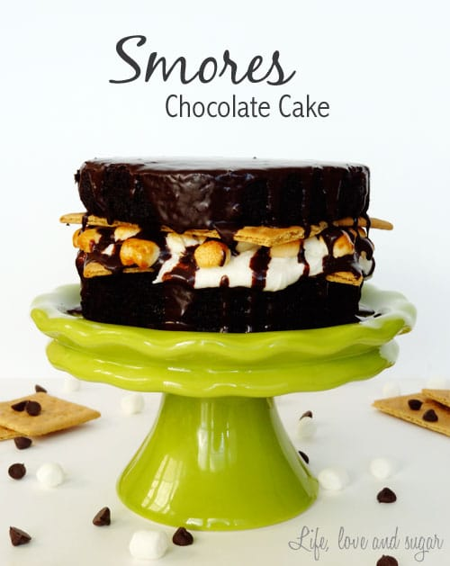S'mores Chocolate Cake