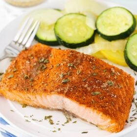 image of Easy Creole Salmon on plate