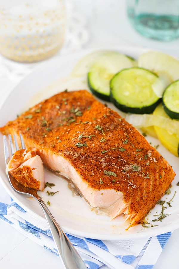 Easy Creole Salmon! Only 2 ingredients - perfect weeknight dinner!