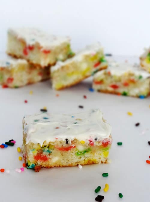 Funfetti Cake Rainbow Chip Icing