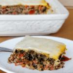 Italian Pie serving on white plate