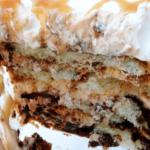 Caramel Macchiato Tiramisu with Nutella close up