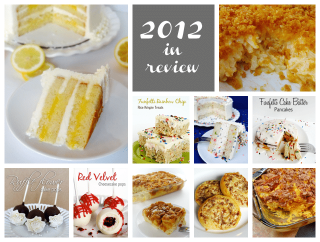 2012 Top Recipes photo collage