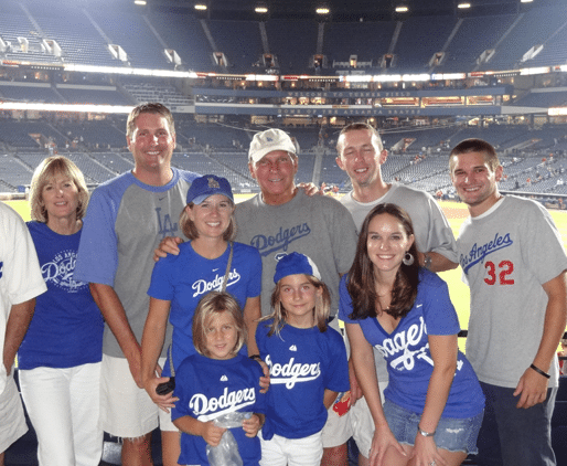 My Family Posing Together in Our Dodgers Attire