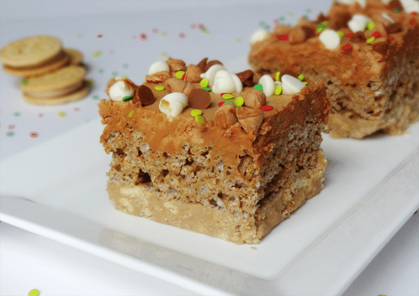 Ultimate Gingerbread Krispie Bars