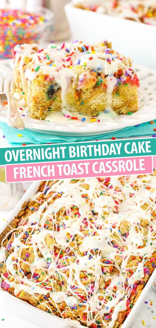Phenomenal Overnight Birthday Cake French Toast Casserole Life Love And Sugar Funny Birthday Cards Online Overcheapnameinfo