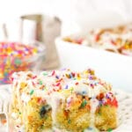 Overnight Birthday Cake French Toast Casserole