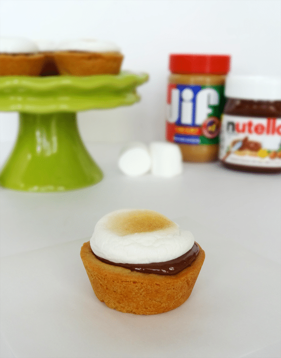 Peanut Butter, Nutella and Marshmallow Cookie Cups