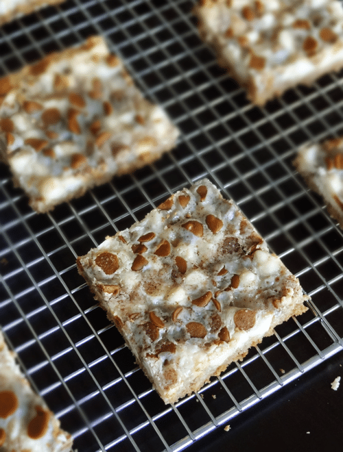 Cinnamon Sugar White Chocolate Crunch Bars