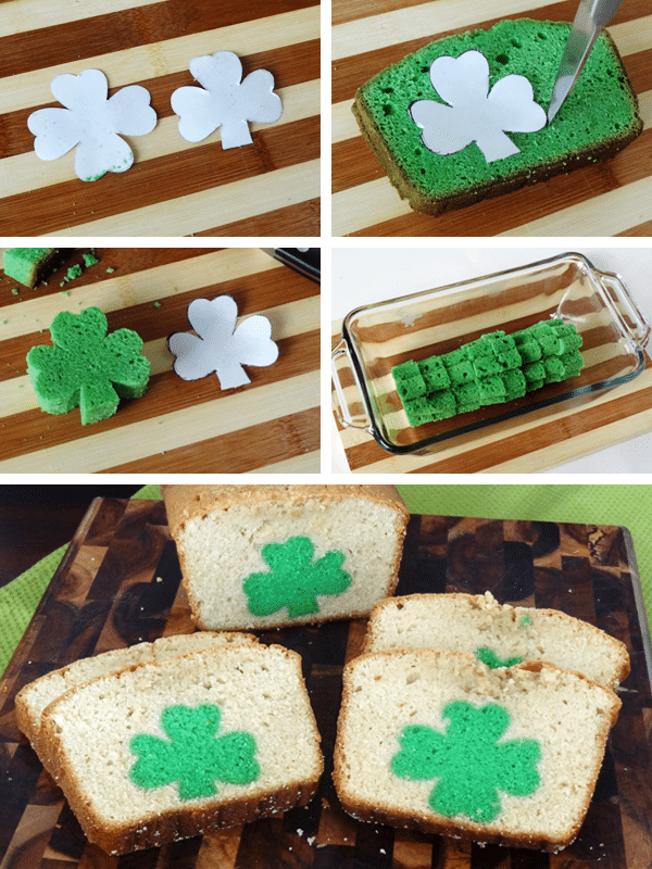 Image of the Shamrocks for St. Patrick's Day Peek A Boo Pound Cake
