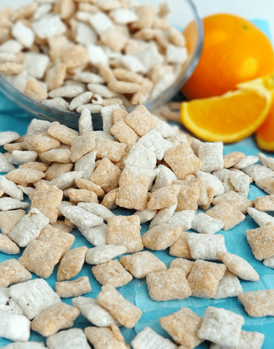 Orange Creamsicle Puppy Chow recipe