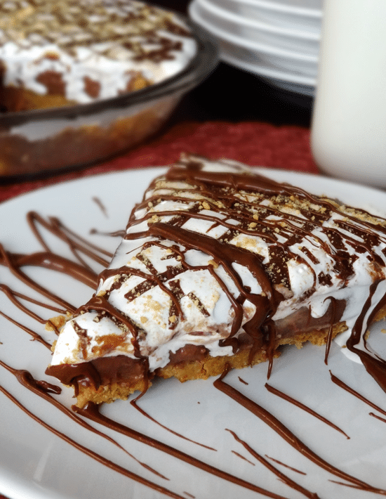 Peanut Butter Nutella and Marshmallow Pie