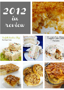 Collage of 2012 in Review recipes