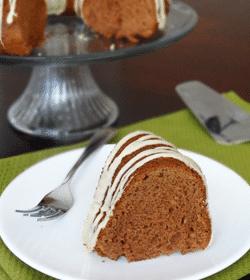 Bailey's Irish Cream Cake slice on white plate