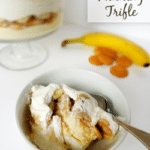 Banana Pudding Trifle in white bowl