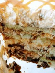 Caramel Macchiato Tiramisu close up