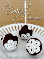 These doily cake pops are so cute and easy to make!