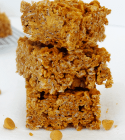Double Pumpkin Butterscotch Rice Krispies stacked