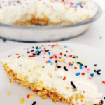 Funfetti Cake Batter Ice Cream Pie