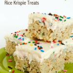 Funfetti Cake Batter Rice Krispie Treats