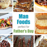A Collage of Eight Different Festive Dishes for Father's Day