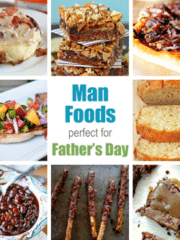 Collage of Man Food perfect for Father's Day images