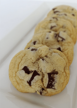 New York Times Chocolate Chip Cookies on white plate