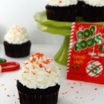 Peppermint Chocolate Cupcakes with Candy Cane Pop Rocks