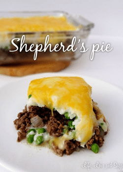 Shepherd's Pie on white plate