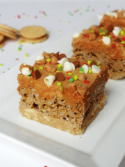 Ultimate Gingerbread bars on white plate