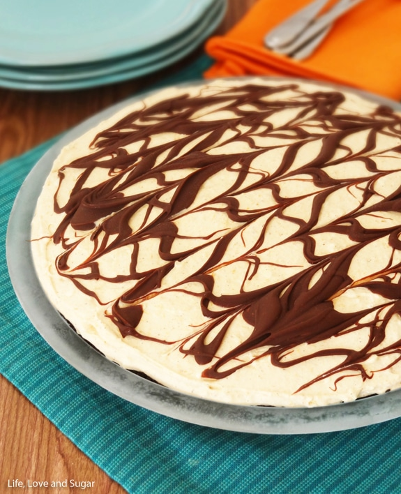 Pumpkin Spice Nutella Ice Cream Pie | from Life, Love and Sugar