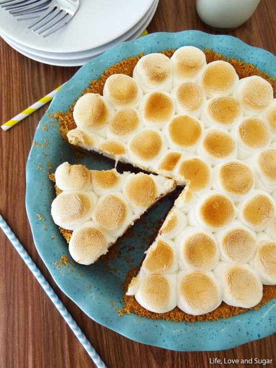 Smores Chocolate Pie