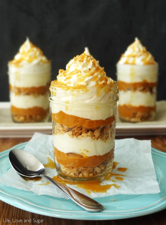 No Bake Pumpkin Pie In A Jar | Life, Love and Sugar | Sponsored