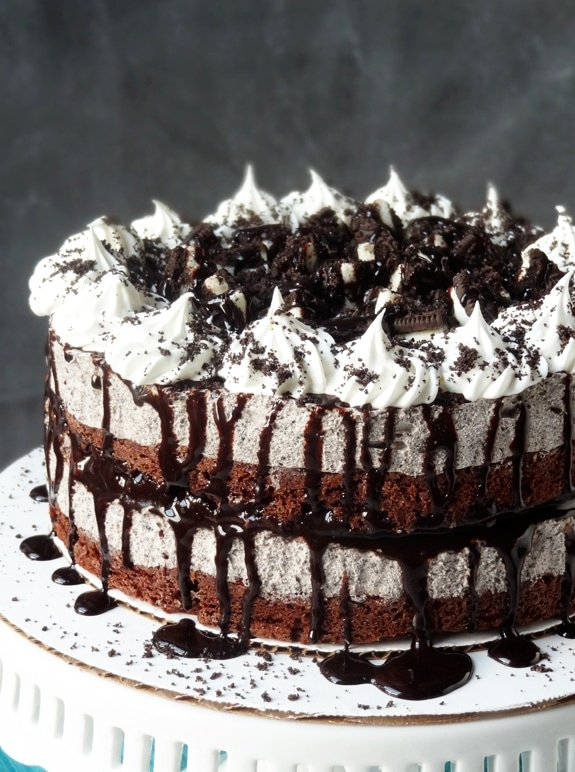 Oreo Cookies and Cream Ice Cream Cake Life Love and Sugar