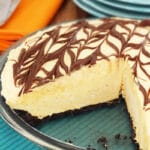 Pumpkin Spice Nutella Ice Cream Pie