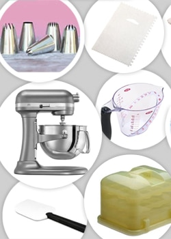Collage of great Christmas gifts for bakers