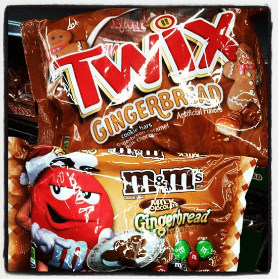 Day in the life - gingerbread M&Ms and gingerbread Twix