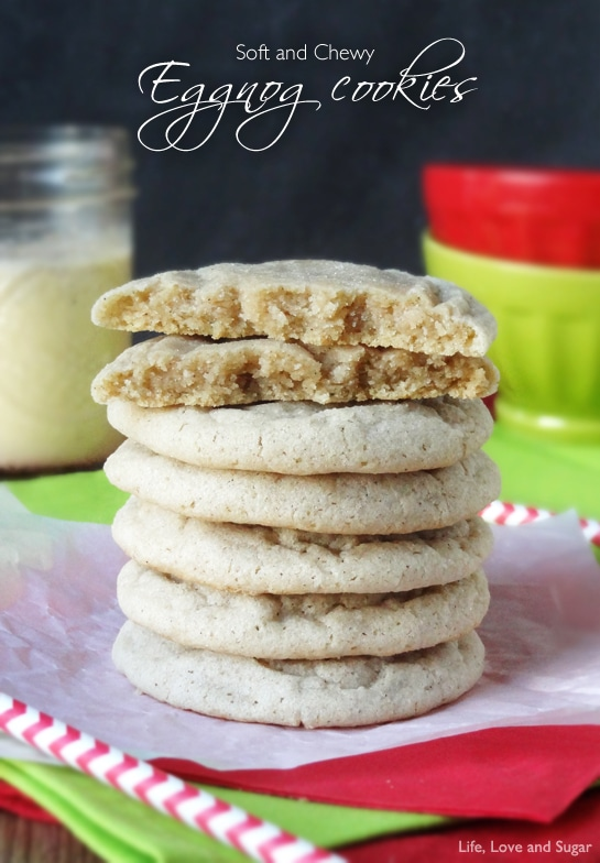Soft and Chewy Eggnog Cookies