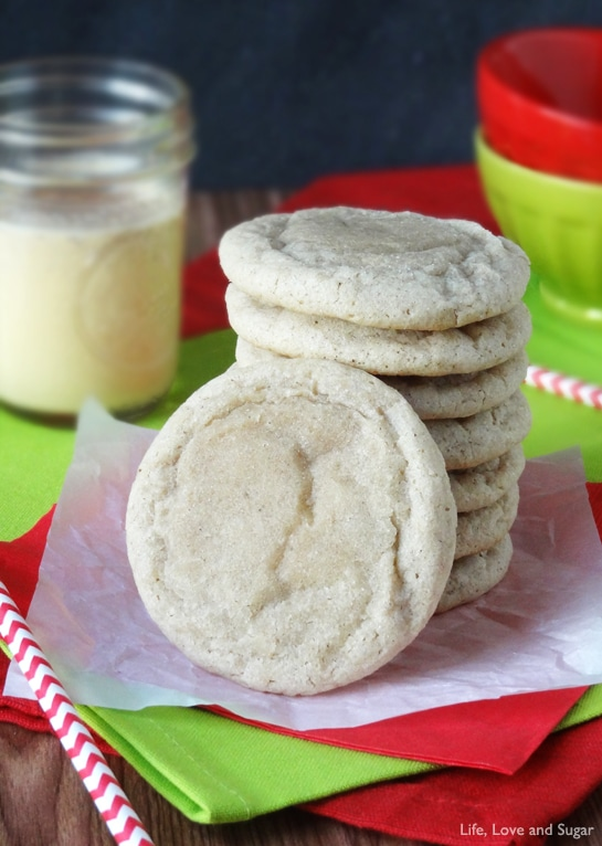 Soft And Chewy Eggnog Cookies Life Love And Sugar