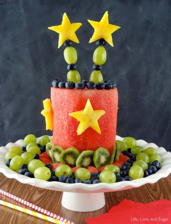 Astounding All Fruit Party Cake Easy Healthy No Bake Dessert Personalised Birthday Cards Veneteletsinfo