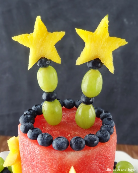 Awesome All Fruit Party Cake Easy Healthy No Bake Dessert Personalised Birthday Cards Veneteletsinfo