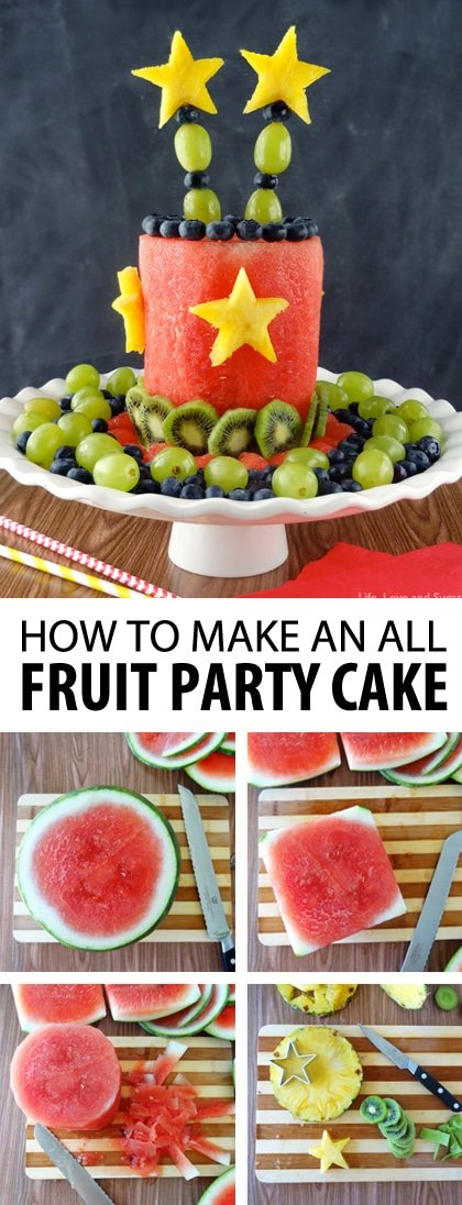 Swell All Fruit Party Cake Easy Healthy No Bake Dessert Personalised Birthday Cards Paralily Jamesorg