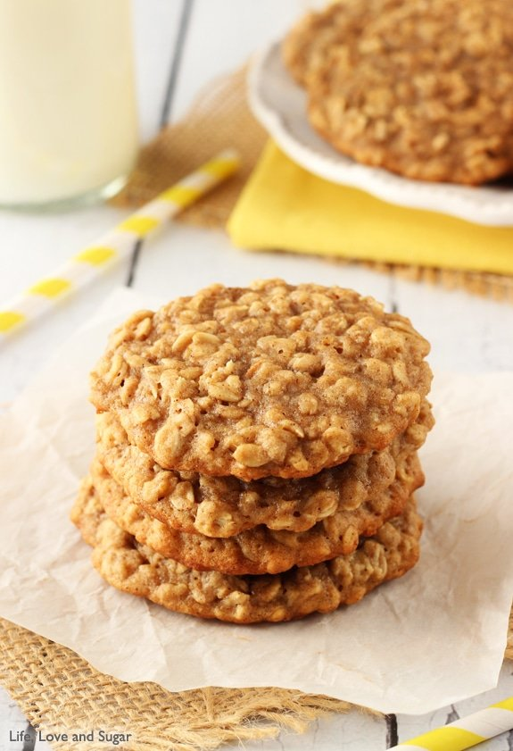 Image of Moist and Chewy Banana Oatmeal Cookies