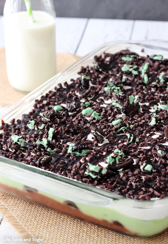 Mint Oreo Icebox Cake