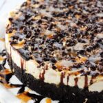 No Bake Samoa Cheesecake close up