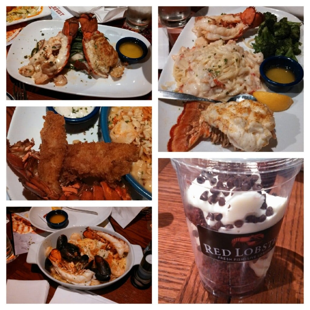 A Collage of Red Lobster Lobsterfest Dishes
