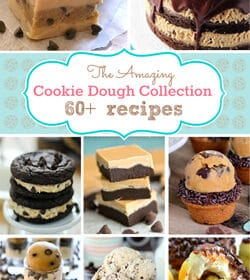 Collage of The Amazing Cookie Dough Collection 60+ recipes