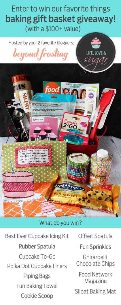 Baking Kit Giveaway!! Includes spatulas, icing tips, sprinkles, cupcake liners, a silpat mat and more!